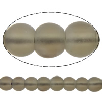 Natural Smoky Quartz Beads, Round, frosted, 14mm, Hole:Approx 2mm, Length:Approx 15.5 Inch, 10Strands/Lot, Approx 28PCs/Strand, Sold By Lot