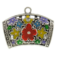 Zinc Alloy Scarf Slide Bail, antique silver color plated, enamel, lead & cadmium free, 44x33x18mm, Hole:Approx 4mm, Sold By PC