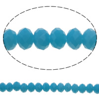 Imitation CRYSTALLIZED™ Element Crystal Beads, Rondelle, faceted & imitation CRYSTALLIZED™ crystal, Aquamarine, 6x4mm, Hole:Approx 1mm, Length:Approx 16.1 Inch, 10Strands/Bag, Approx 97PCs/Strand, Sold By Bag