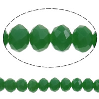 Imitation CRYSTALLIZED™ Element Crystal Beads, Rondelle, faceted & imitation CRYSTALLIZED™ element crystal, Crystal Green, 4x3mm, Hole:Approx 1mm, Length:Approx 18.7 Inch, 10Strands/Bag, Sold By Bag