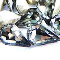 Стразы клеевые, Кристаллы, Каплевидная форма, плакирован серебром, граненый, бронзовый оттенок, 8x13mm, 288ПК/сумка, продается сумка