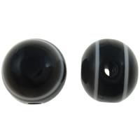 Koraliki z żywicy Zło Eye, żywica, Koło, pasek, czarny, 8mm, otwór:około 2mm, 1000komputery/torba, sprzedane przez torba