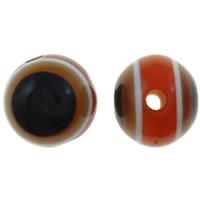 Koraliki z żywicy Zło Eye, żywica, Koło, pasek, 8mm, otwór:około 2mm, 1000komputery/torba, sprzedane przez torba