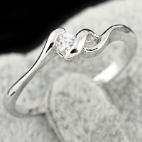 KUNIU® Finger Ring, Brass, platinum plated, with cubic zirconia, nickel, lead & cadmium free, 3mm, Size:5, Sold By PC