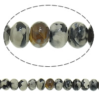 Natural Tibetan Agate Dzi Beads, Rondelle, 10x14mm, Hole:Approx 1.5mm, Length:Approx 14 Inch, 5Strands/Lot, 37PCs/Strand, Sold By Lot