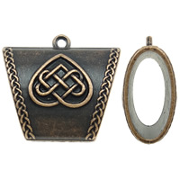 Zinc Alloy Scarf Slide Bail, antique copper color plated, lead & cadmium free, 38x34x17mm, Hole:Approx 2.5mm, Sold By PC