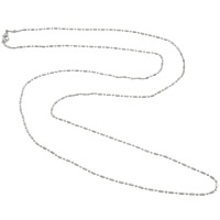 Iron Necklace Chain, zinc alloy lobster clasp, platinum color plated, ball chain, nickel, lead & cadmium free, 1.7mm, Hole:Approx 2mm, Length:Approx 14.5 Inch, 20Strands/Bag, Sold By Bag