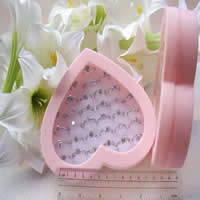 Plastic Ring Box, with Sponge, Heart, pink, 140x155mm, 20PCs/Lot, Sold By Lot