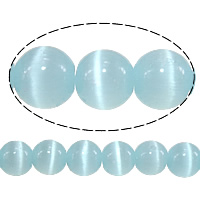 Cats Eye Jewelry Beads, Round, blue, 5mm, Hole:Approx 1mm, Length:Approx 16 Inch, 20Strands/Lot, Approx 93PCs/Strand, Sold By Lot