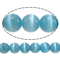 Cats Eye Jewelry Beads, Round, light blue, 5mm, Hole:Approx 1mm, Length:Approx 16 Inch, 20Strands/Lot, Approx 93PCs/Strand, Sold By Lot