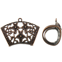 Zinc Alloy Scarf Slide Bail, antique copper color plated, lead & cadmium free, 45x32x21mm, Hole:Approx 3mm, 10PCs/Bag, Sold By Bag