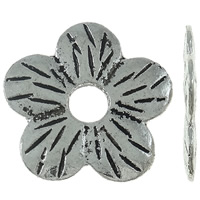 Zinc Alloy Spacer Beads Flower antique silver color plated nickel lead   cadmium free 22x21x1.50mm Hole:Approx 5mm Approx 400PCs/KG