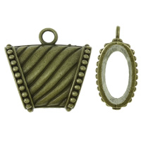 Zinc Alloy Scarf Slide Bail, Trapezium, antique bronze color plated, lead & cadmium free, 39x39x18mm, Hole:Approx 6mm, Sold By PC