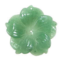 Green Aventurine Pendant, Flower, 49.50x49x7mm, Hole:Approx 1.5mm, 10PCs/Lot, Sold By Lot