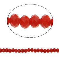 Imitation CRYSTALLIZED™ Element Crystal Beads, Rondelle, faceted & imitation CRYSTALLIZED™ crystal, Hyacinth, 6x4mm, Hole:Approx 1mm, Length:Approx 16.1 Inch, 10Strands/Bag, Approx 97PCs/Strand, Sold By Bag