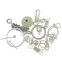 925 Sterling Silver Findings, plated, mixed, 8-10x27-28x2mm, 20G/Bag, Sold By Bag