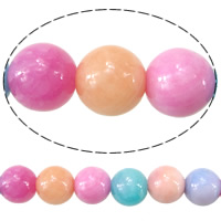 Natural Marble Beads, Dyed Marble, Round, different size for choice, mixed colors, Hole:Approx 1.8mm, Length:Approx 15.5 Inch, Sold By Lot