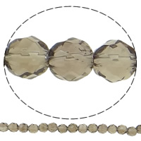 Natural Smoky Quartz Beads, Round, different size for choice & faceted, Hole:Approx 1.5mm, Length:Approx 15.7 Inch, Sold By Lot