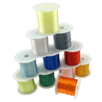 Elastic Thread, with plastic spool, mixed colors, 35x45mm, 0.45mm, 25PCs/Lot, 10m/PC, Sold By Lot