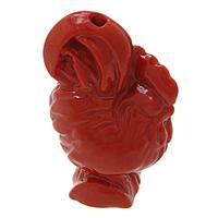 Cynobrowy koraliki, Cynober, Kurczak, Naturalne, czerwony, 16x24x11mm, otwór:około 2mm, 10komputery/wiele, sprzedane przez wiele