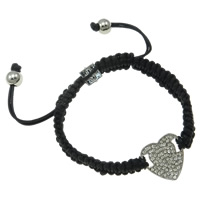 Zinc Alloy Shamballa Bracelets, with Wax, enamel & with rhinestone, nickel, lead & cadmium free, 19mm, Sold Per 7.5 Inch Strand