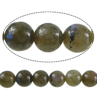 Natural Labradorite Beads, Round, 6mm, Hole:Approx 0.8mm, Length:Approx 15 Inch, 10Strands/Lot, Approx 60PCs/Strand, Sold By Lot