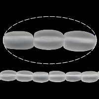 Natural Clear Quartz Beads, Column, frosted, clear, 10x7mm, Hole:Approx 1.5mm, Length:Approx 15 Inch, 5Strands/Lot, Approx 40PCs/Strand, Sold By Lot