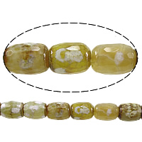 Antique Agate Beads, Oval, faceted, 14x11mm, Hole:Approx 2mm, Length:Approx 15 Inch, 5Strands/Lot, Approx 28PCs/Strand, Sold By Lot