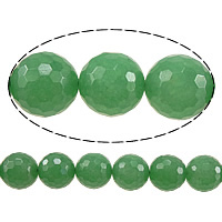 Dyed Marble Beads Round faceted green 6mm Hole:Approx 0.8mm Length:Approx 15 Inch 10Strands/Lot Approx 60PCs/Strand