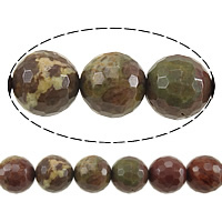 Gemstone Jewelry Beads, Round, faceted, 12mm, Hole:Approx 1.2mm, Length:Approx 15 Inch, 5Strands/Lot, Approx 33PCs/Strand, Sold By Lot