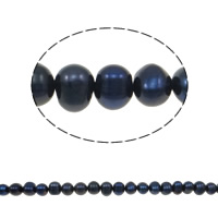 Potato Cultured Freshwater Pearl Beads, natural, black, 5-6mm, Hole:Approx 0.8mm, Sold Per 14.5 Inch Strand