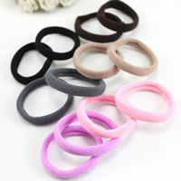Ponytail Holder, Cotton, mixed colors, 5-10mm, 200PCs/Bag, Sold By Bag