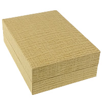 Paper Pendant Box, with Linen, Rectangle, golden, 70x100x33mm, 30PCs/Lot, Sold By Lot