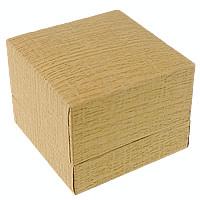 Papier Pojedyncze pudełko na pierścionek, ze Len, Kwadrat, złoty, 60x47mm, 30komputery/wiele, sprzedane przez wiele