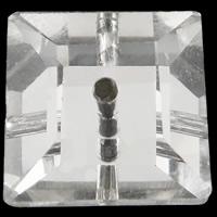 الخرز أزياء زجاج, مربع, لون الفضة مطلي, حجر الراين التقليد & حجم مختلفة للاختيار & الأوجه, حفرة:تقريبا 0.5-1mm, 100أجهزة الكمبيوتر/حقيبة, تباع بواسطة حقيبة