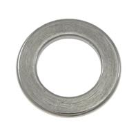 Roestvrij staal ring connectors, Donut, oorspronkelijke kleur, 11x1mm, Gat:Ca 6.5mm, 200pC's/Lot, Verkocht door Lot