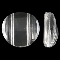 Imitation CRYSTALLIZED™ Element Crystal Beads, Flat Round, faceted & imitation CRYSTALLIZED™ crystal, Crystal, 18x8.5mm, Hole:Approx 1mm, 10PCs/Bag, Sold By Bag