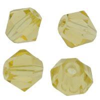 Imitation CRYSTALLIZED™ Element Crystal Beads, Bicone, faceted & imitation CRYSTALLIZED™ crystal, Lime, 5mm, Hole:Approx 1mm, 50PCs/Bag, Sold By Bag