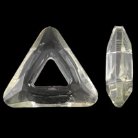 Imitation CRYSTALLIZED™ Element Crystal Beads, Triangle, faceted & imitation CRYSTALLIZED™ crystal, Gold Champagne, 20x18x6mm, Hole:Approx 7x5mm, 100PCs/Bag, Sold By Bag