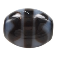 Natural Tibetan Agate Dzi Beads, Oval, four strip tiger teeth & two tone, 14.50x13x3mm, Hole:Approx 2mm, 5PCs/Lot, Sold By Lot
