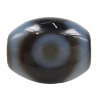 Natural Tibetan Agate Dzi Beads, Oval, three-eyed & more sizes for choice & two tone, Hole:Approx 2mm, 5PCs/Lot, Sold By Lot