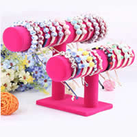 Velveteen Bracelet Display, Composite Wood, with Velveteen, more colors for choice, 22x12cm,26x18cm,9x13cm,5cm, 5PCs/Lot, Sold By Lot