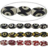 Natural Tibetan Agate Dzi Beads, Oval, textured, more colors for choice, 14x10mm, Hole:Approx 1.6mm, Length:Approx 15 Inch, 5Strands/Lot, Approx 28PCs/Strand, Sold By Lot