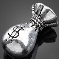 Cynku stopu pieniędzy torby wisiory, Stop cynku, Worek pieniędzy, Platerowane kolorem starego srebra, bez zawartości niklu, ołowiu i kadmu, 12.30x23.60mm, otwór:około 1-3mm, 100komputery/torba, sprzedane przez torba