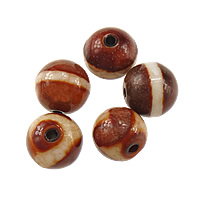 Natural Tibetan Agate Dzi Beads, Round, mixed & two tone, 10mm, Hole:Approx 2mm, 20PCs/Lot, Sold By Lot