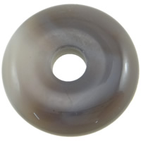 Grey Agate Pendant, Donut, can be used as pendant or bead, 37x8mm, Hole:Approx 9mm, 10PCs/Bag, Sold By Bag