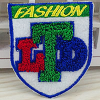 Iron on Patches, Cloth, with Velveteen, Badge, multi-colored, 50x60mm, 100PCs/Lot, Sold By Lot