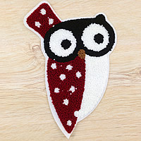 Iron on Patches, Cloth, with Velveteen, Owl, multi-colored, 142x210mm, 50PCs/Lot, Sold By Lot