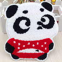 Iron on Patches, Cloth, with Velveteen, Panda, 150x165mm, 50PCs/Lot, Sold By Lot