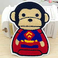 Iron on Patches, Cloth, with Velveteen, Monkey, multi-colored, 152x210mm, 50PCs/Lot, Sold By Lot